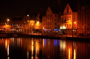 The Shore at Leith by Night